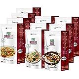 PurePasta Konjac Sin Gluten Tallarines - Arroz - Espaguetis 10 Pack * 200 g | Shirataki Con Harina Gluten Free Con La…