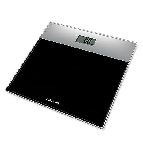 Salter 9206 SVBK3R Báscula de baño electrónica en vidrio templado, capacidad 180 KG, 15