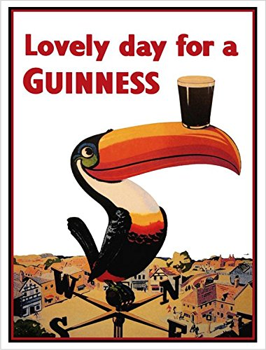 - Buyartforless Guinness Beer Lovely Day Toucan on Weather-Vane 36x24 GICLEE Advertising Art Print Poster Irish Stout Brew