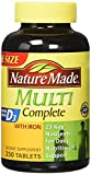 Nature Made Multi Complete Vitamin & Mineral Tabs 250 tablets For Sale