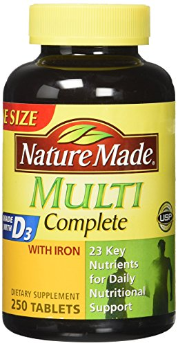 - Nature Made Multi Complete Vitamin & Mineral Tabs 250 tablets