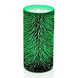 "GiveU Color Changing Glass Timer Flameless Led Candle for Halloween and Christmas, 3"" x 6"", Mercury"