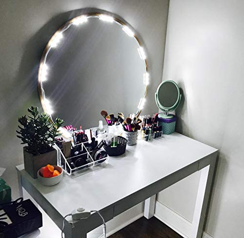 PENSON & CO. MLL-5050-04 PENSON Cosmetic Makeup Vanity Mirror Kit, 20 LED Lights, Basic Version