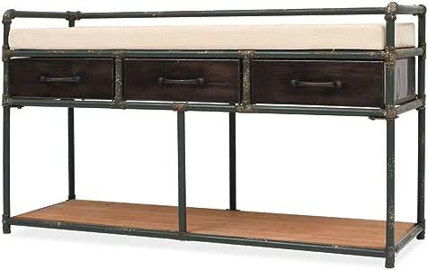 Amazon.com: vidaXL Storage Bench with Cushion, Hidden ...