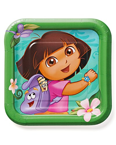 American Greetings Dora The Explorer Paper Dessert Plates, 8 Count