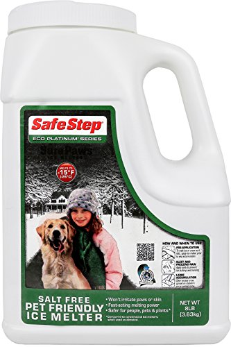 Safe Step Pet Friendly Salt Free Ice Melter, Environmentally Safe, Non-Corrosive Safe for Concrete Sidewalks, Driveway Pavement- 8 pound (De Icing Salt)