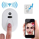 Cemara Doorbell,Smart 2.4G RF Wireless Ring Doorbell WiFi Visual Camera Phone Anti-theft Alarm for Home Security