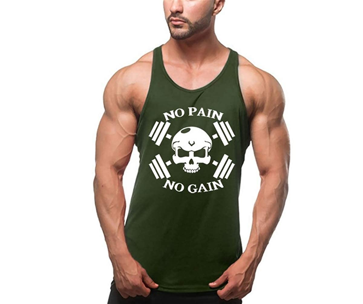 Cabeen Bodybuilding Men Muscle Tank Top Stringers Black