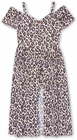 5a795ca68 Speechless Girls' Big 7-16 Off The Shoulder Walk Through Romper Dress