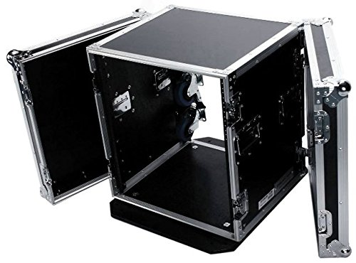 Deejay LED 12RU Space Fly Drive Case with Wheels for Professional DJ Amplifier, 18'' Body Depth by Deejay LED