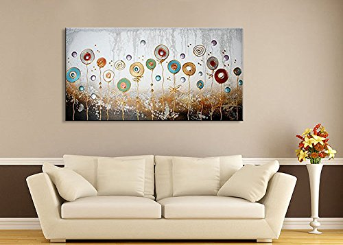 Textured Large Flower Oil Painting on Canvas Hand Painted Modern Floral Wall Art Abstract Artwork Framed Ready to Hang by Seekland Art