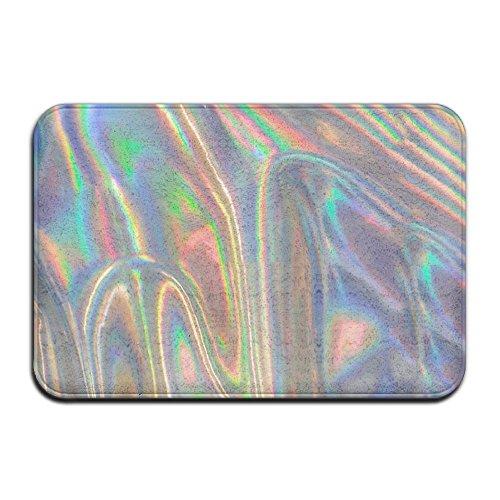 Silver Wave Doormat Entrance Mat Floor Mat Rug Indoor/Outdoor/Front Door/Bathroom Mats Rubber Non - Wave Silver Mat