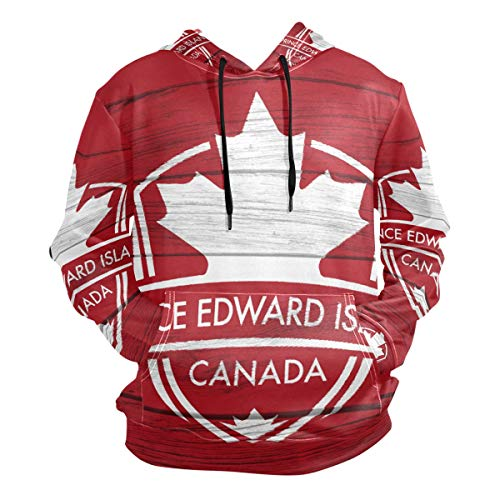 - Prince Edward Island Province Canada Maple Leaf Flag Men's Pullover Hooded Sweatshirt