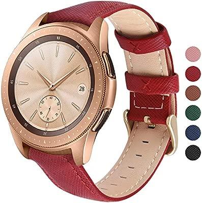Fullmosa 6 Colores para Correa de Reloj, Cross Piel Correa Huawei Samsung Correa/Banda/Band/Pulsera/Strap de Recambio/Reemplazo 18mm 20mm 22mm ...