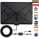 TV Antenna, Digital HDTV Antenna Indoor 70 Miles with HDTV Amplifier Signal Booster, Thicker Coaxial USB Cable-Support All Smart Television, Upgraded 2018 Version