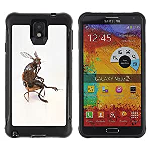 Be-Star único patrón Impacto Shock - Absorción y Anti-Arañazos Funda Carcasa Case Bumper Para SAMSUNG Galaxy Note 3 III / N9000 / N9005 ( Rabbit Long Ears Nature Modern Art Love )