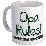 CafePress - Opa Rules When Oma Lets Him - Unique Coffee Mug, 11oz Coffee Cup