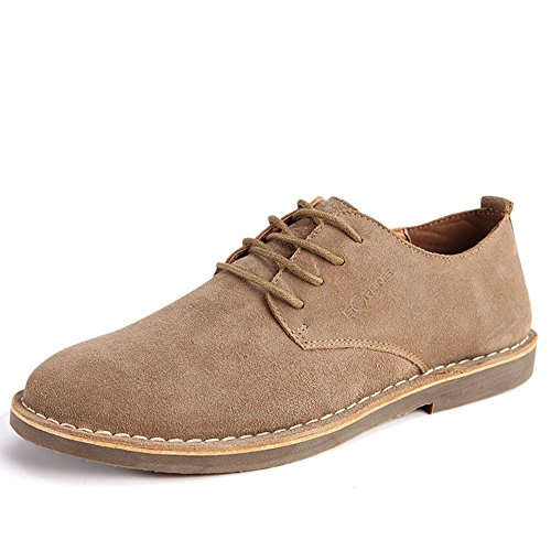 SCRENE Lace-up Flat Oxford Dress Shoes Suede Casual Classic Business Leather Men Shoes