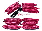 hair rollers for natural hair - Epic Wave Hair Rollers No Heat Natural Hair Curlers - Soft Rollers Heatless Curlers Night Rollers - 30 Pack Hair Rollers Plus 2 Bonus Curly Hair Styling Tools To Help Curls For Long Hair