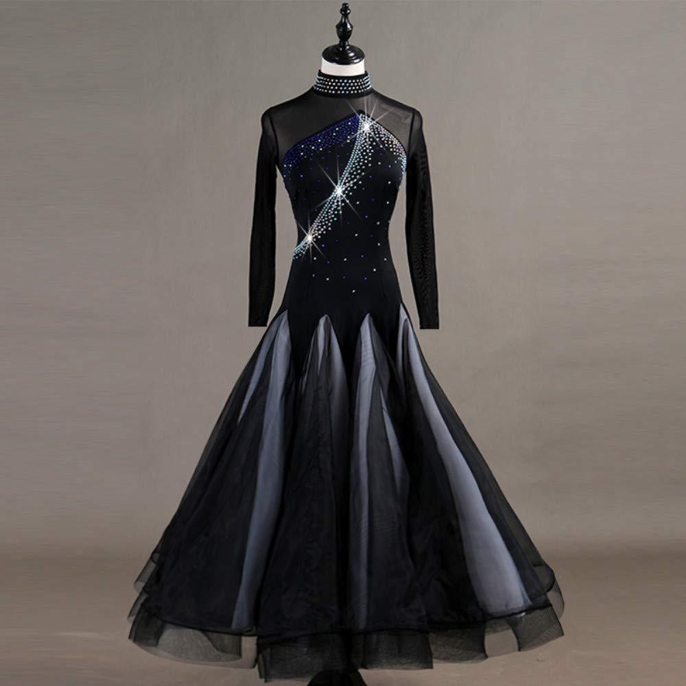 女性モダンワルツタンゴパフォーマンスコスチューム滑らかな全国標準社交ダンスドレスコンペティションダンスの衣装グレートスイング B07P8KHJ93 B07P8KHJ93 Large Black Black Black Large Black Large, Interieur Deco:5b8c96c9 --- ijpba.info