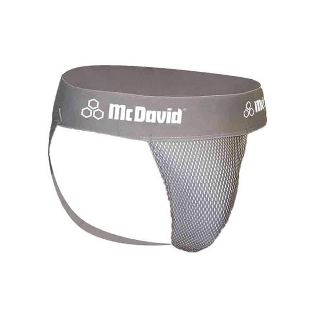 McDavid Classic Logo 3300 Athletic Supporter Mesh Gray Large