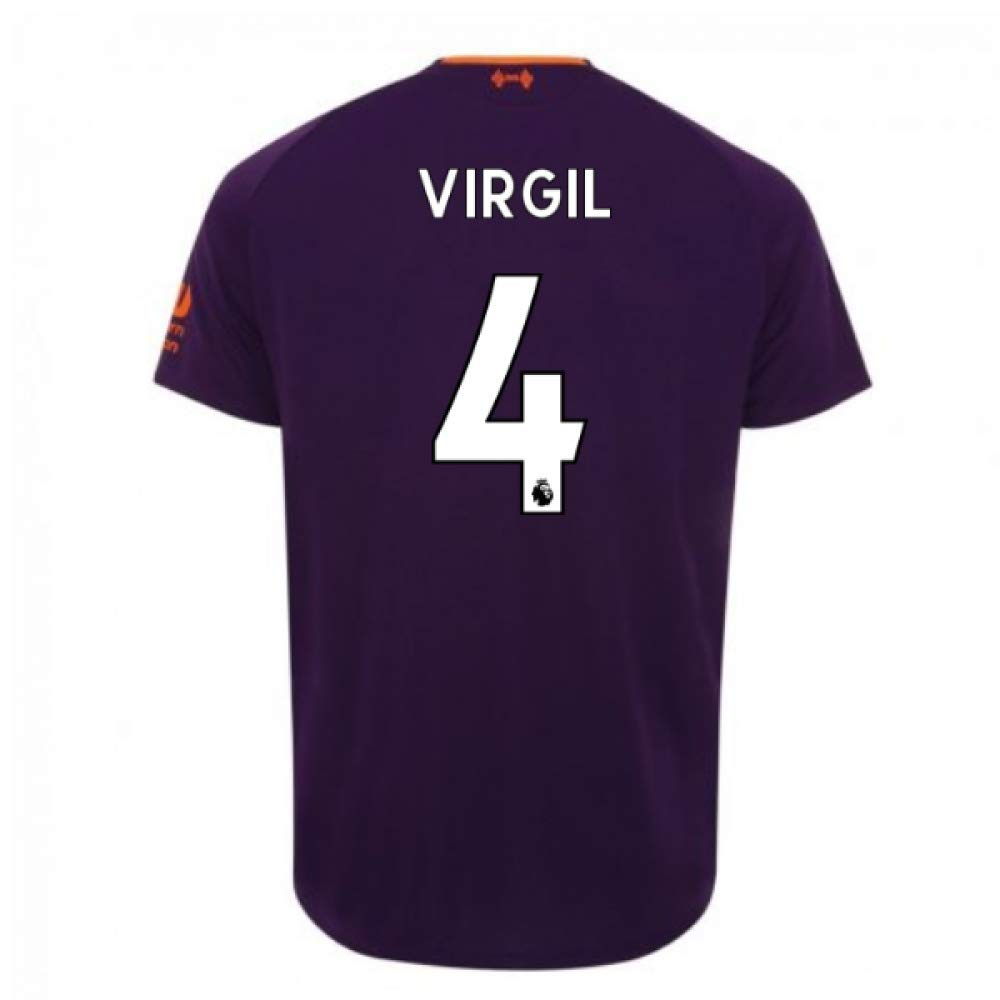 2018-2019 Liverpool Away Football Soccer T-Shirt Trikot (Virgil Van Dijk 4)