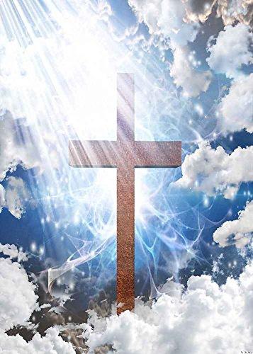 GladsBuy Holy Cross 5' x 7' Digital Printed Photography Backdrop KA Series Background KA039 ()