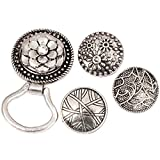 BMC Interchangeable Snap Centerpiece Eye Glass Holding Magnetic Brooch - Set 1