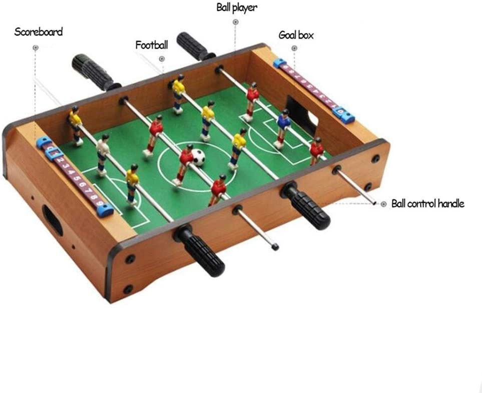 JBHURF Futbolín, futbolín, Juego de futbolín Consola, Haga Doble futbolín de Madera, Gran fútbol 4 Polos, 2,4 kg de Peso, tamaño 51 * 31.5 * 10cm: Amazon.es: Deportes y aire libre
