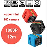 SQ11 Mini Camera 1080P Sport DV Mini Infrared Night Vision Monitor Concealed small Camera SQ 11 small camera DV Video Recorder (red)