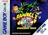 Rampage 2 - Universal Tour GBC Instruction Booklet (Nintendo Gameboy Color Manual ONLY - NO GAME) Pamphlet - NO GAME INCLUDED