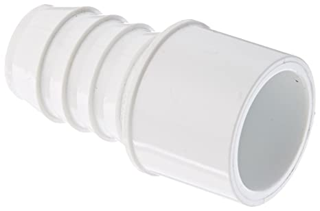 Spears 460 Series PVC Pipe Fitting, Adapter, Schedule 40, White, 1