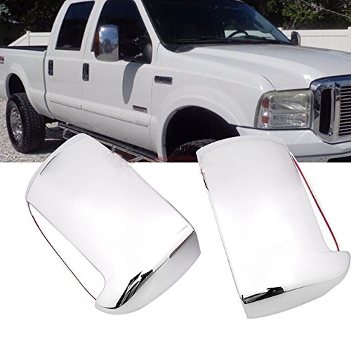 Hot Sale Pair Chrome Side Door Tow Mirror Cover w/Signal Cutout For Ford F250 F350 F450 F550 Super Duty 1999-2007