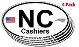Cashiers, North Carolina Oval Sticker - 4 pack