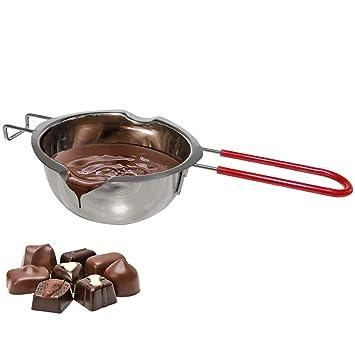 Cazo para baño María de acero inoxidable,acero inoxidable 18/8, bol para fundir chocolate o mantequilla, con asa, utensilio de cocina de horno, ...