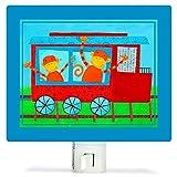 Productos Para Ninos Best Deals - Oopsy Daisy Fine Art para niños NL8552NW Animal Choo luz de noche