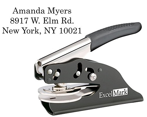 ExcelMark Hand Held Personal Address Gift Embosser - Style 52 (Address Embosser)