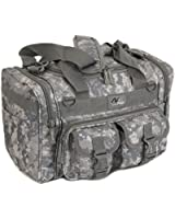 "Mens 15"" Inch Duffel Duffle Molle Tactical Shoulder Bag With KEYCHAIN FLASHLIGHT OR KEY RING CARABINER"