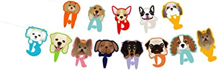 DOG 2ND BIRTHDAY BANNER PARTY BUNTING