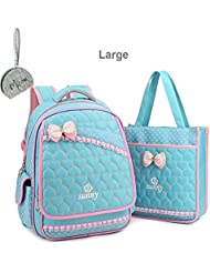 Micom Girls Student School Backpack with Tote Shoulder Bag Lunch Bag
