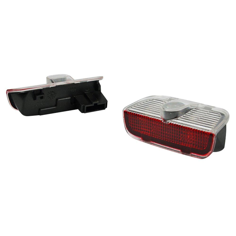 JDWG 1 Pair Car LED Projector Door Lamp Ghost Shadow Welcome Light Led Courtesy Logo Kit for Skoda Octavia
