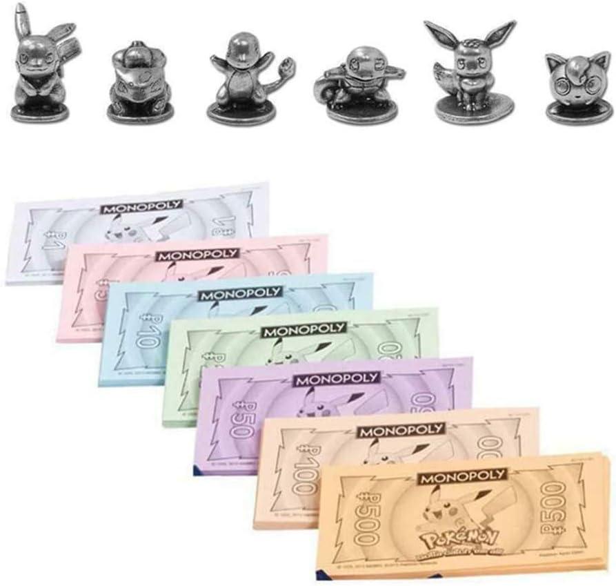 DFGHJKNN Juegos De Mesa Juguetes Pokemon Monopoly Card Fiesta Multijugador Juegos De Mesa Versión En Inglés: Amazon.es: Hogar