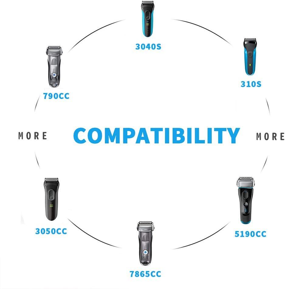 Cargador de afeitadora de 12 V 400 mA para Braun Shaver Series 3 ...