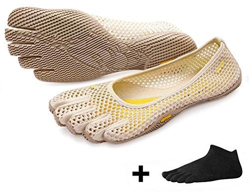 Vijf Vinger Vi-b Vrouwen - Set - Dames Ballerina Teenschoen / Minimalistische Schoen Met Teensokken Gratis Witte Dop