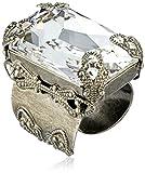 """Sorrelli  """"Crystal Clear"""" Large Emerald Cut Crystal Ring"""