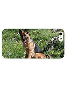 3d Full Wrap Case for iPhone 5/5s Animal German Shepherd In The Grass