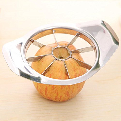 Show Apple Pear Cutter Knife Corers Fruit Shredders Slicer Multi-function Stainless Steel Kitchen Cooking Vegetable Tools Chopper Dishwasher Safe and Comes in Striking Silver price