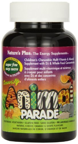 Nature's Plus - Source of Life Animal Parade Sugar-Free Assorted 90 Chewable (Animal Parade Orange Flavor)