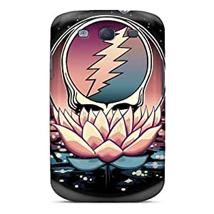 AlissaDubois Samsung Galaxy S3 Protector Cell-phone Hard Cover Unique Design Lifelike Grateful Dead Band Image [OfP8811vhto]
