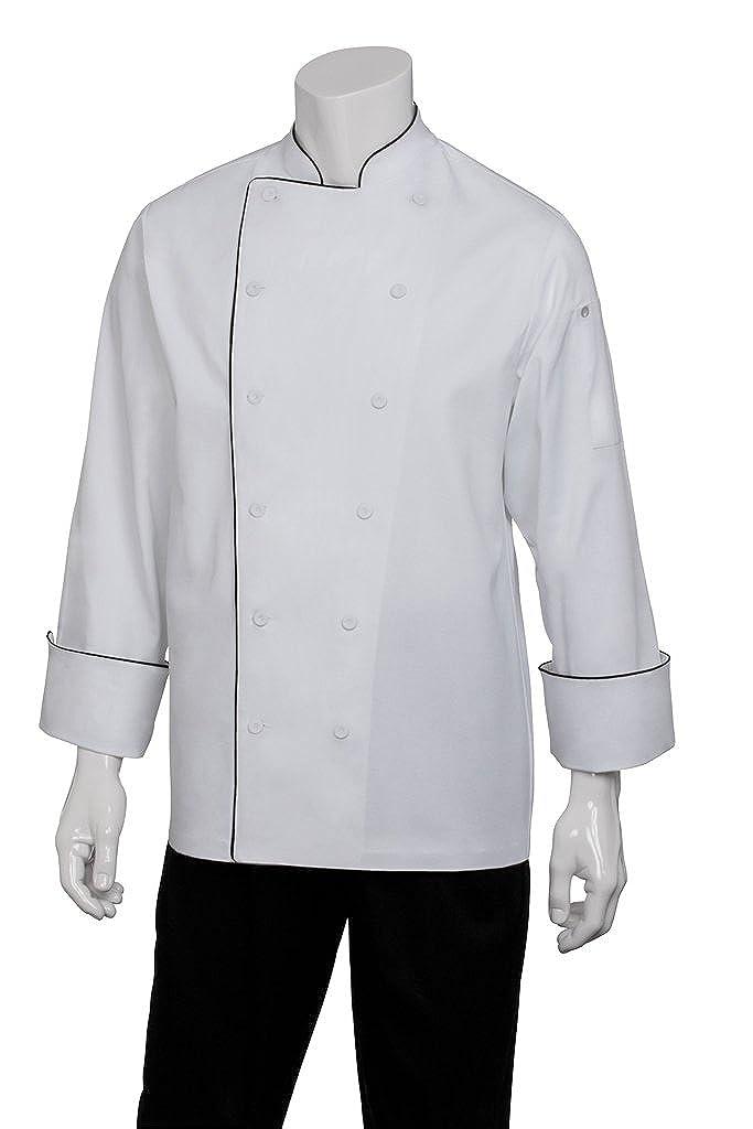 Chef Works Men's Reims Executive Chef Coat (RECC) RECC-WHT-P